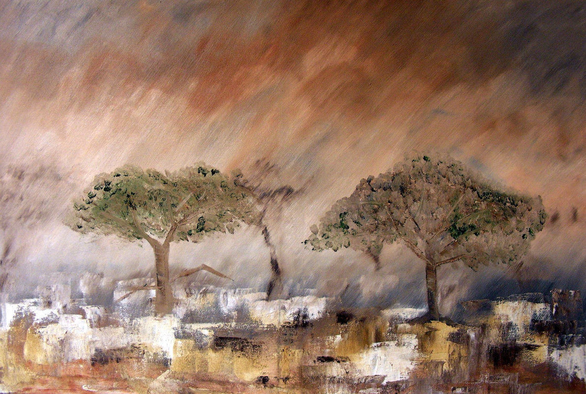 """""""Sand Storm"""" painting by Adri Moller"""