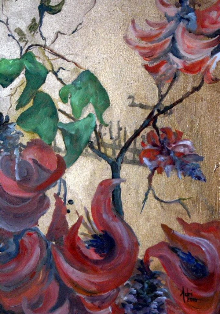 """""""Coral Tree I"""" painting by Adri Moller"""