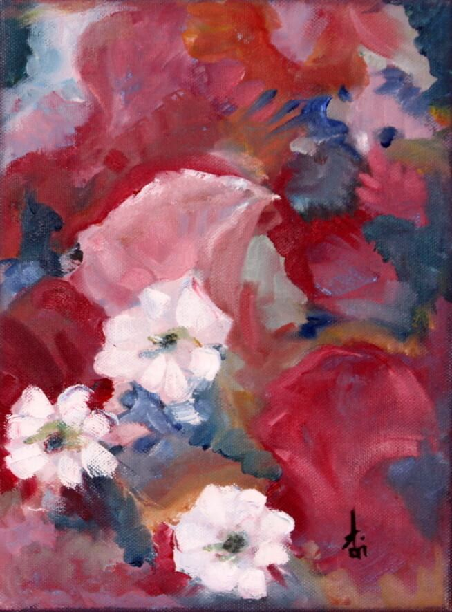 """""""Daisies I"""" painting by Adri Moller"""
