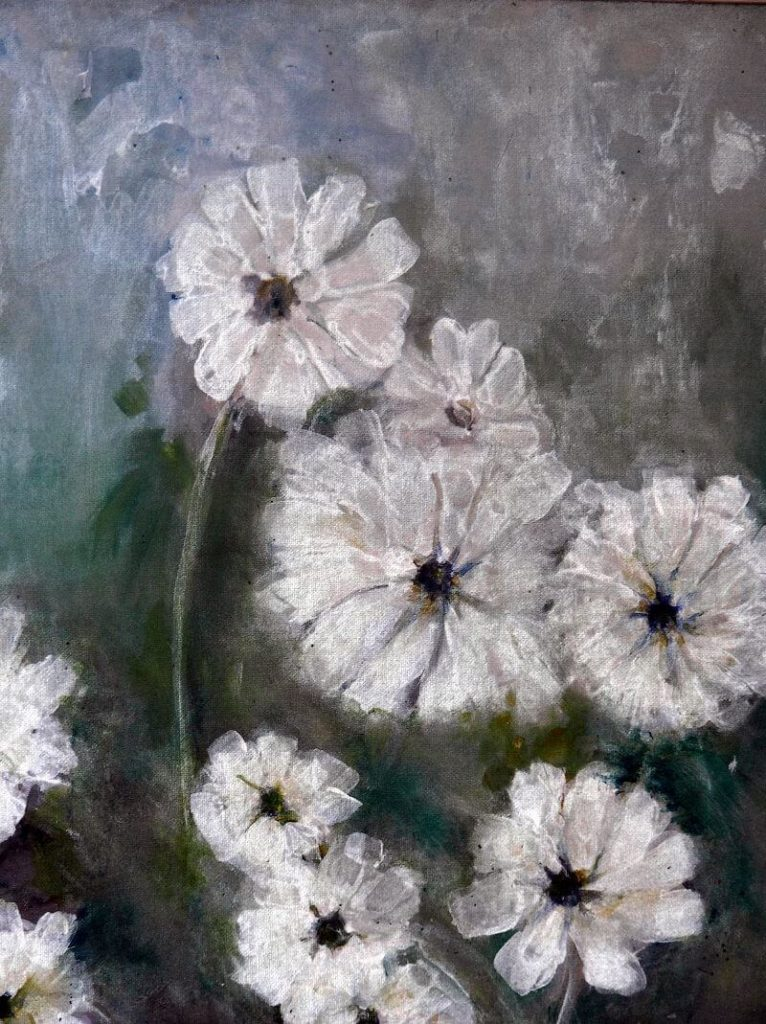 """""""Daisies II"""" painting by Adri Moller"""