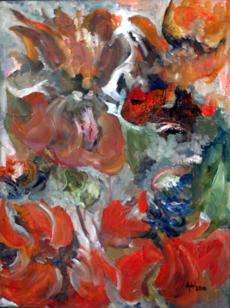 """""""Coral Tree II"""" painting by Adri Moller"""
