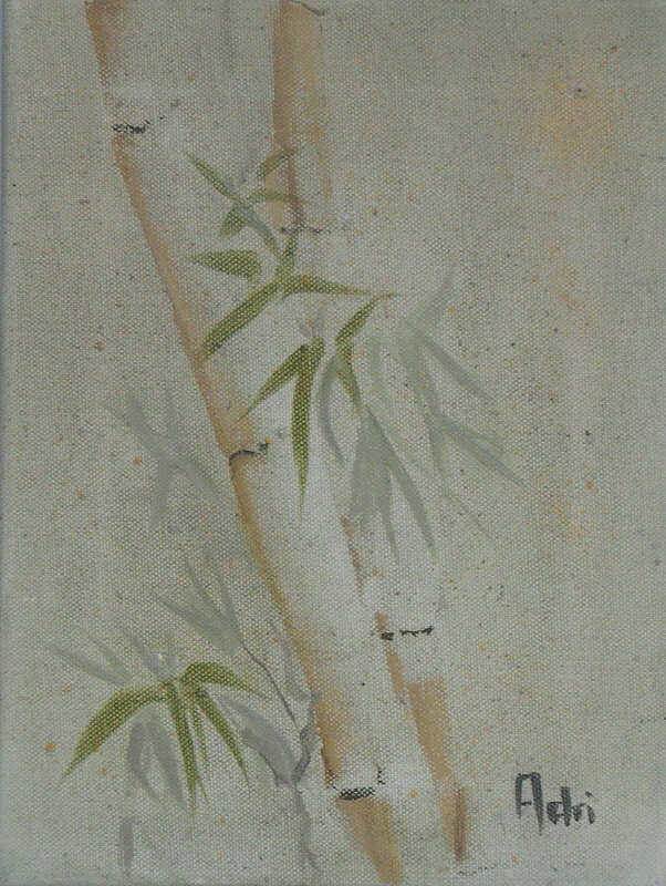 """""""Bamboo II"""" painting by Adri Moller"""