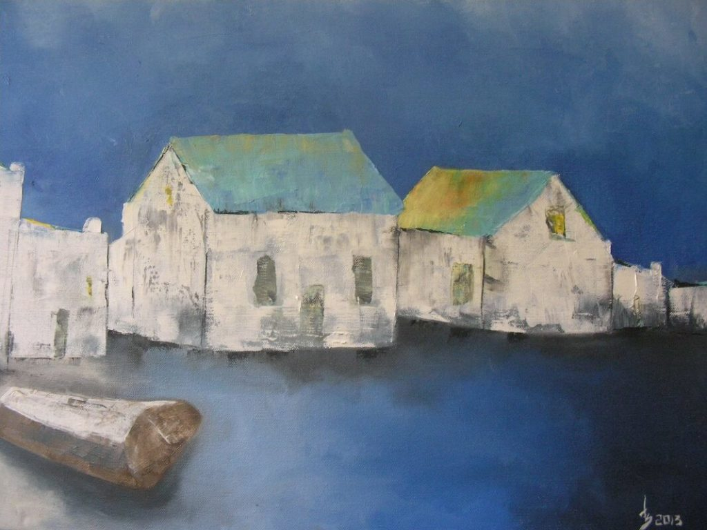 """""""Cottages"""" painting by Adri Moller"""