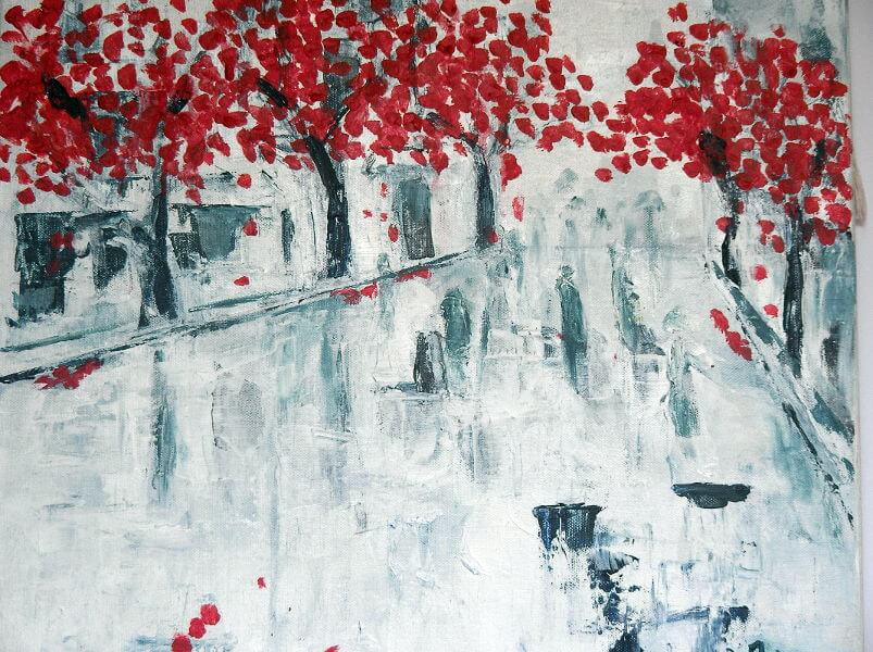 """""""A Rainy Day"""" painting by Adri Moller"""