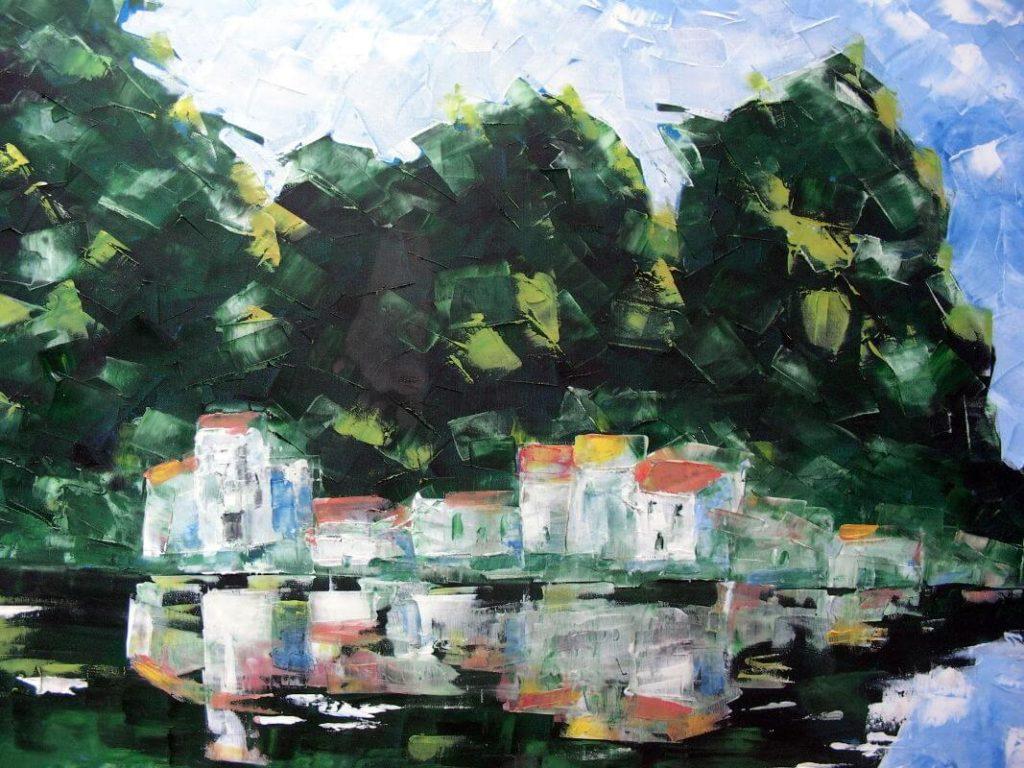 """Amazon Village"" painting by Adri Moller"
