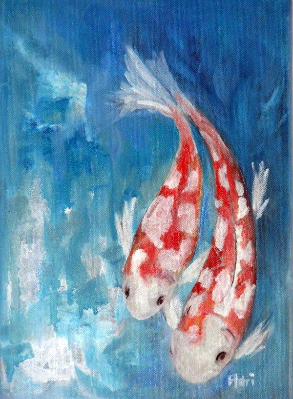 """Koi IV"" painting by Adri Moller"