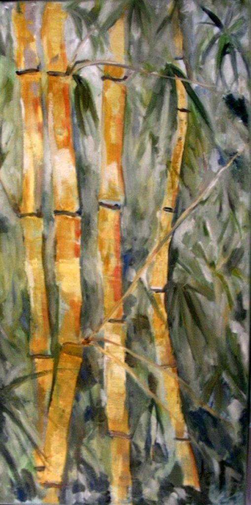 """""""Bamboo Forest"""" painting by Adri Moller"""