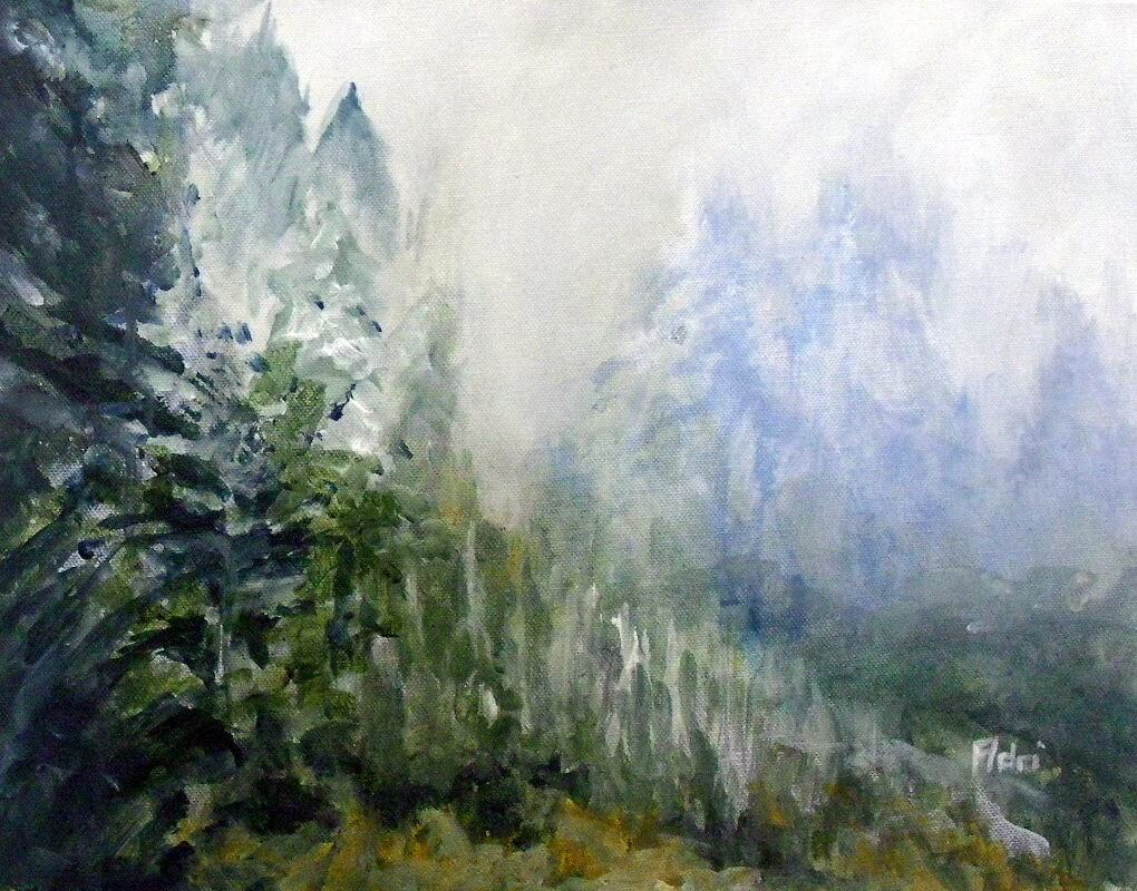 """""""The Hike"""" painting by Adri Moller"""