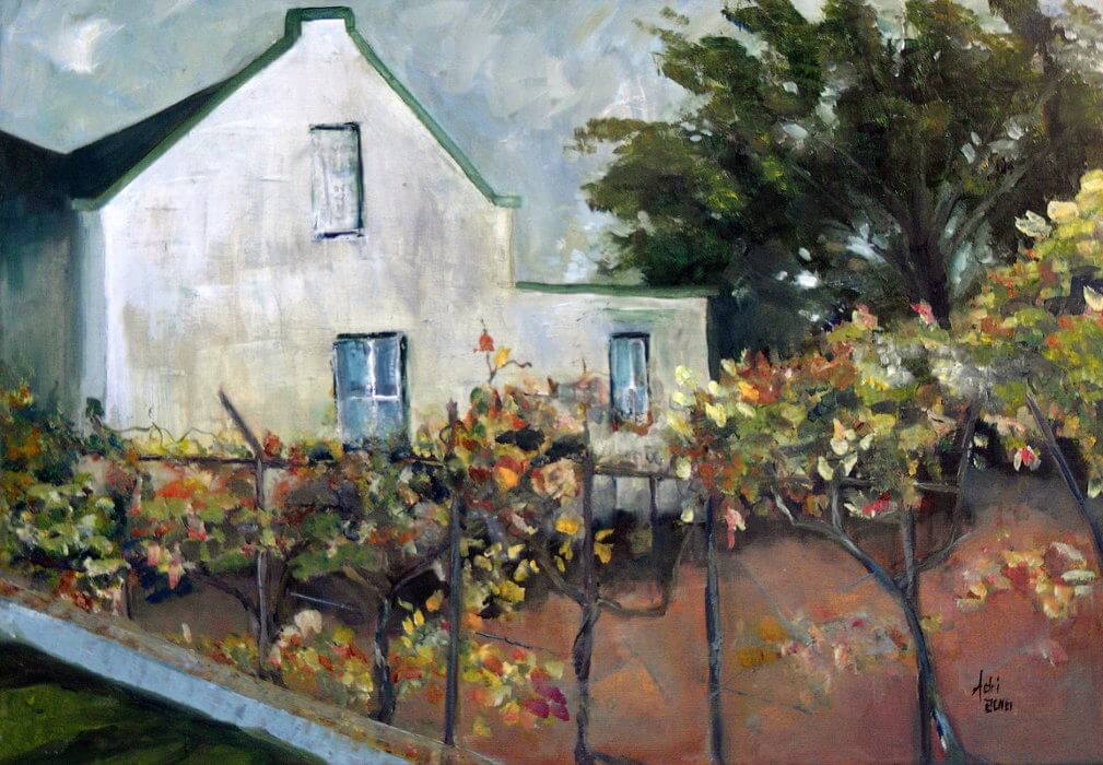 """Karoo Cottage Autumn"" painting by Adri Moller"