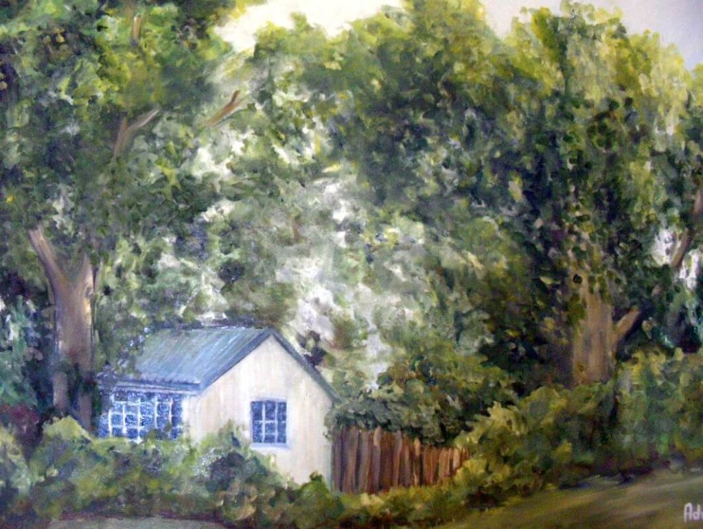 """""""Days gone by"""" painting by Adri Moller"""