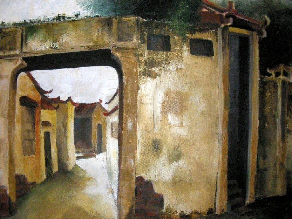 """Village Gate Vietnam"" painting by Adri Moller"