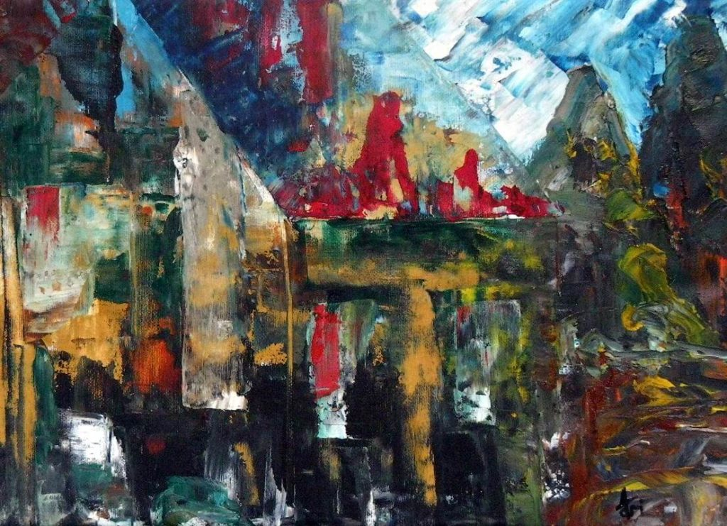 """""""My Country"""" painting by Adri Moller"""
